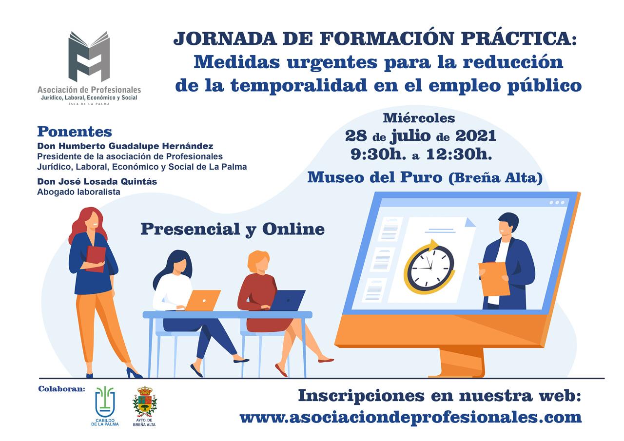 JORNADA DE FORMACIÓN PRÁCTICA: Medidas urgentes para la reducción de la temporalidad en el empleo público